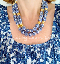 Load image into Gallery viewer, Chunky Double Strand Chinoiserie Longevity Symbol Bead Necklace - Ginger jar