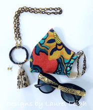 Load image into Gallery viewer, Chinoiserie Bamboo, Tortoise & Leopard Tassel Eyeglass / Sunglass / Mask Holder / Lanyard Chain / Necklace