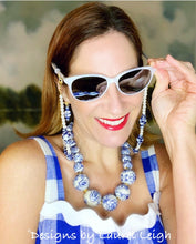 Load image into Gallery viewer, Chinoiserie Ginger Jar & Pearl Eyeglass / Sunglass / Mask Holder / Lanyard Chain / Necklace - 3 Styles
