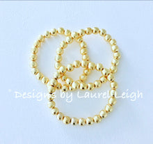 Load image into Gallery viewer, Gold Dainty Bead Bracelet Stack - Set of 3 - Ginger jar