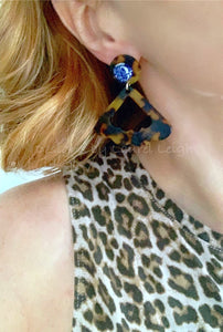 Chinoiserie Tortoise Shell Fan Earrings - Posts - Ginger jar