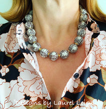 Load image into Gallery viewer, Chinoiserie Chunky Double Happiness Statement Necklace - Chocolate Brown