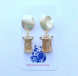 Chinoiserie Gold Pagoda Earrings - Posts - Designs by Laurel Leigh