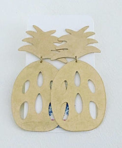 Gold Pineapple Statement Earrings - Posts - Ginger jar