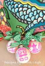 Load image into Gallery viewer, Pink & Green Chinoiserie Hand Painted Christmas Ornament - Pink or Green Paint - Regular Size - Ginger jar
