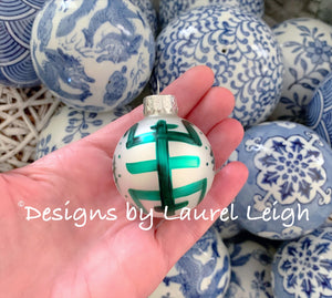 Chinoiserie Christmas Ornament - Mini Size