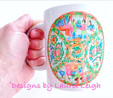 Load image into Gallery viewer, Rose Medallion Watercolor Coffee Mug - 2 Designs - Ginger jar