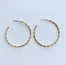 Load image into Gallery viewer, Gold Bamboo Open Hoop Earrings - Two Styles - Ginger jar