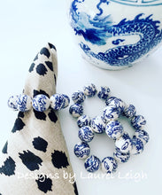 Load image into Gallery viewer, Chinoiserie Beaded Napkin Rings - Set of 4 - Ginger jar