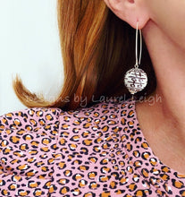 Load image into Gallery viewer, Chinoiserie Double Happiness Bead Dangle Earrings - Chocolate Brown