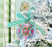 Load image into Gallery viewer, Rose Medallion Christmas Ornament - Traditional Plate