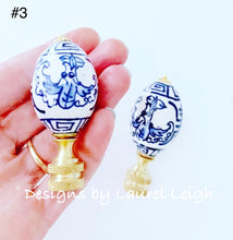 Load image into Gallery viewer, Blue and White Chinoiserie Lamp Finials - Sold Individually - Ginger jar