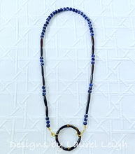 Load image into Gallery viewer, Blue and White Chinoiserie Beaded Bamboo Eyeglass / Sunglass / Mask Holder / Lanyard Chain / Necklace