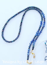 Load image into Gallery viewer, Chinoiserie Chic Peacock Pearl Eyeglass / Sunglass / Mask Holder / Lanyard Chain / Necklace