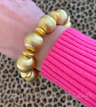 Load image into Gallery viewer, Chunky Gold Beaded Statement Bracelet - Ginger jar
