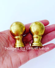 Load image into Gallery viewer, Gilded Gold Lamp Finials - Pair (2) - Ginger jar