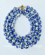 Load image into Gallery viewer, Chunky Chinoiserie Oval Bead Statement Necklace (Single Strand) - Ginger jar