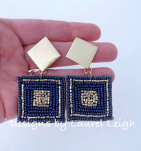 Load image into Gallery viewer, Dressy Multicolor Seed Bead Post Earrings - Designs by Laurel Leigh