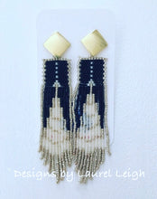 Load image into Gallery viewer, Dressy Multicolor Seed Bead Fringe Post Earrings - Ginger jar