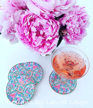 Load image into Gallery viewer, Sandstone Rose Medallion Beverage Coasters - Set of 4 - Ginger jar