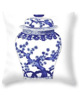 "Chinoiserie Blue and White Ginger Jar Pillow Covers - Set of Two 18x18"" - Ginger jar"