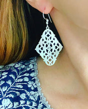 Load image into Gallery viewer, Marquis Filigree Earrings - Silver - Ginger jar