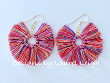 Load image into Gallery viewer, Fan Tassel Earrings - Multicolored - Ginger jar