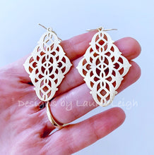 Load image into Gallery viewer, Marquis Filigree Earrings - Gold - Ginger jar