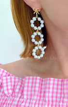Load image into Gallery viewer, Bow & Pearl Drop Statement Earrings - Ginger jar