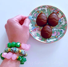 Load image into Gallery viewer, Chunky Pink & Green Nugget Statement Bracelet - 2 Colors - Ginger jar