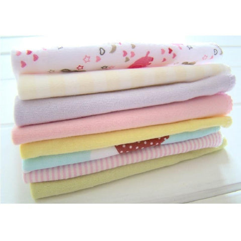 8pcs/pack 100% Cotton Newborn Baby Smooth Towels
