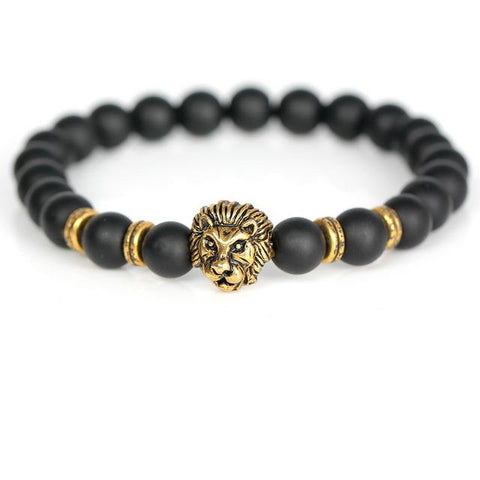Image of Lion Head Charm Bracelet