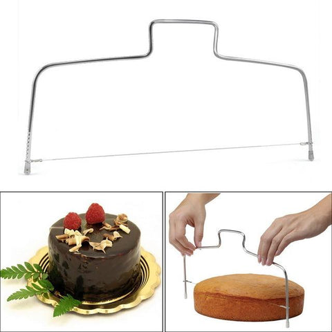 Image of Stainless Steel Adjustable Wire Cake Cutter