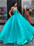 Strapless Ball Gowns Prom Dresses Simple Red Long Prom Dress Evening Dresses SED405