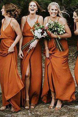 Customized Admirable Bridesmaid Dress Cheap Orange Bridesmaid Dresses BRK015|Selinadress