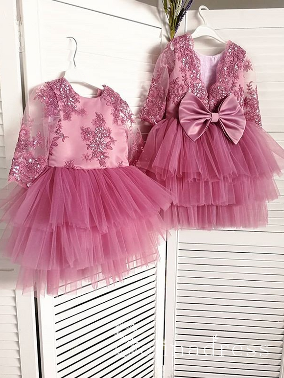 Gorgeous Lovely Pretty Wedding Little Girl Flower Girl Dresses With Sleeve GRS010|Selinadress