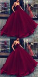 Chic Ball Gowns Prom Dresses Black Strapless Long Prom Dress Evening Dresses #SED268