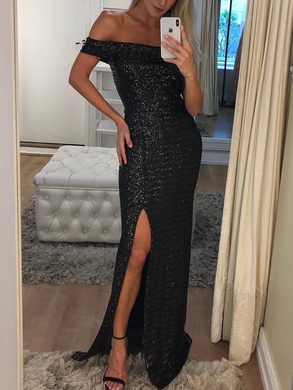black-sequin-off-shoulder-sheath-with-slit-long-prom-dresses-sed224