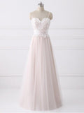 A-line Spaghetti Straps Cheap Lace Wedding Dresses SEW032|Selinadress