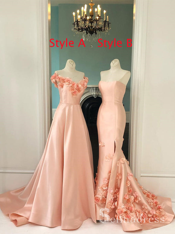 A-line Off-the-shoulder Long Prom Dresses Vintage Evening Gowns Formal Dresses SED027|Selinadress