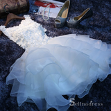 A-line Scoop Organza Short Prom Dress Juniors Homecoming Dresses MHL042|Selinadress