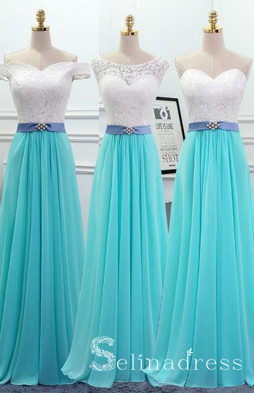 Affordable Jade Green Cheap Bridesmaid Dresses Pearl Sash Long Backless Wedding Party Dresses BRK004|Selinadress