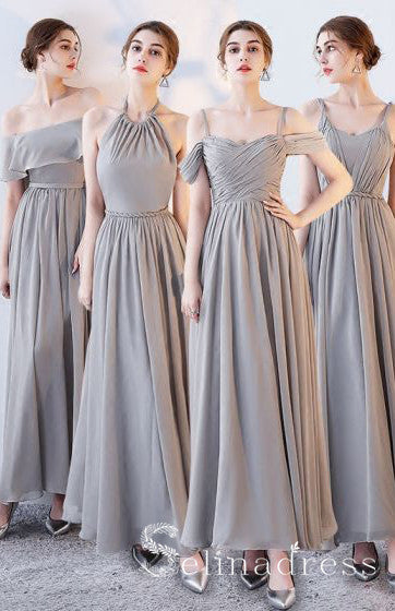 Chic Cheap Bridesmaid Dresses Ankle Length Long Bridesmaid Wedding Party Dresses BRK009|Selinadress