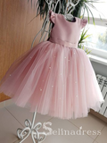 Lovely Pink Pretty Cheap Cute Weding Little Girl Flower Girl Dresses GRS008|Selinadress