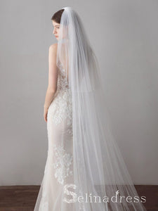 Ivory Tulle Wedding Veils Bridal Cathedral Veil ALC014