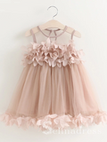 Lovely Pretty Cheap Unique Weding Little Girl Flower Girl Dresses GRS006|Selinadress