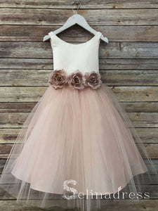 Hand Made Flower Lovely Pretty Cheap Wedding Little Girl Flower Girl Dresses GRS018|Selinadress