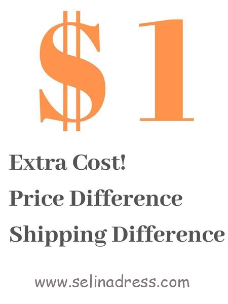 The link for difference of the shipping fee-Selinadress