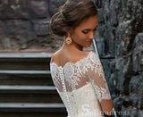 A-line Off-the-shoulder Lace Wedding Dresses With Sleeve Princess Wedding Dress SEW056
