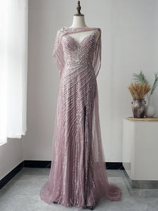 Selinadress Dubai Luxury Pink Long Prom Dress Formal Evening Gowns SC083